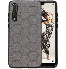 Hexagon Hard Case Huawei P20 Pro Grijs