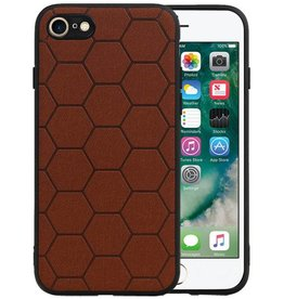 Hexagon Hard Case iPhone SE / iPhone 8 / iPhone 7 Bruin