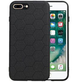 Hexagon Hard Case iPhone 8 Plus / iPhone 7 Plus Zwart