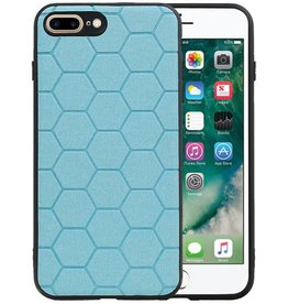 Hexagon Hard Case iPhone 8 Plus / iPhone 7 Plus Blauw