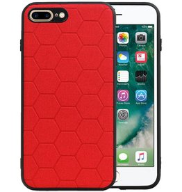 Hexagon Hard Case iPhone 8 Plus / iPhone 7 Plus Rood