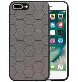 Hexagon Hard Case iPhone 8 Plus / iPhone 7 Plus Grijs