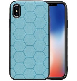 Hexagon Hard Case iPhone X / iPhone XS Blauw