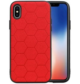 Hexagon Hard Case iPhone X / iPhone XS Rood