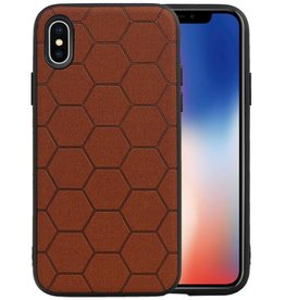 Hexagon Hard Case iPhone X / iPhone XS Bruin