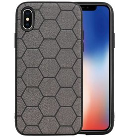 Hexagon Hard Case iPhone X / iPhone XS Grijs