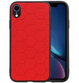 Hexagon Hard Case iPhone XR Rood