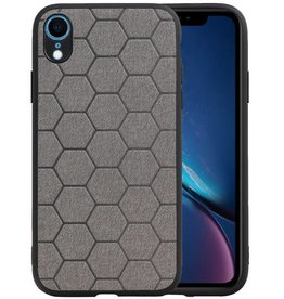 Hexagon Hard Case iPhone XR Grijs