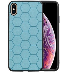 Hexagon Hard Case iPhone XS Max Blauw