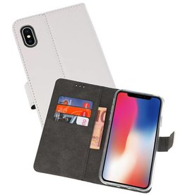 Wallet Cases Hoesje iPhone XS - X Wit