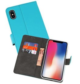 Wallet Cases Hoesje iPhone XS - X Blauw