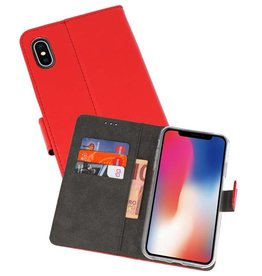 Wallet Cases Hoesje iPhone XS - X Rood