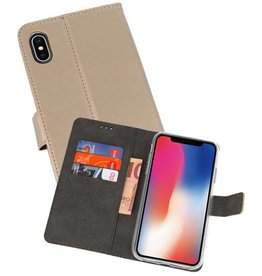 Wallet Cases Hoesje iPhone XS - X Goud