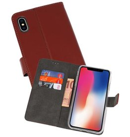 Wallet Cases Hoesje iPhone XS - X Bruin