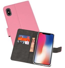 Wallet Cases Hoesje iPhone XS - X Roze