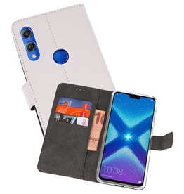 Wallet Cases Hoesje Huawei Honor 8X Wit