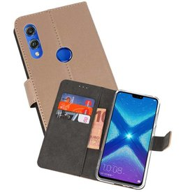 Wallet Cases Hoesje Huawei Honor 8X Goud