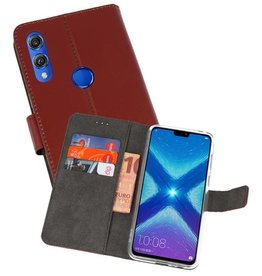 Wallet Cases Hoesje Huawei Honor 8X Bruin