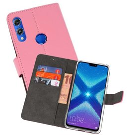 Wallet Cases Hoesje Huawei Honor 8X Roze