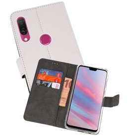 Wallet Cases Hoesje Huawei Y9 2019 Wit