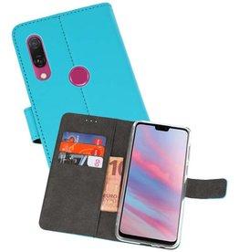 Wallet Cases Hoesje Huawei Y9 2019 Blauw