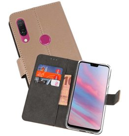 Wallet Cases Hoesje Huawei Y9 2019 Goud