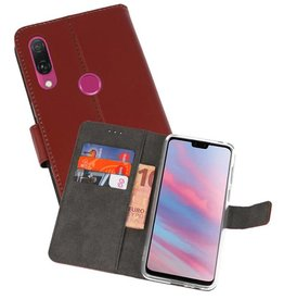 Wallet Cases Hoesje Huawei Y9 2019 Bruin