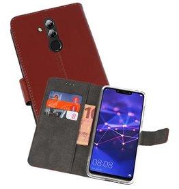Wallet Cases Hoesje Huawei Mate 20 Lite Bruin