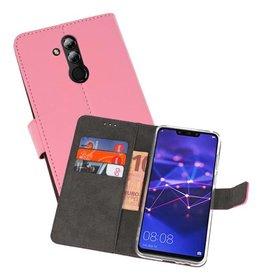 Wallet Cases Hoesje Huawei Mate 20 Lite Roze
