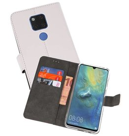 Wallet Cases Hoesje Huawei Mate 20 X Wit