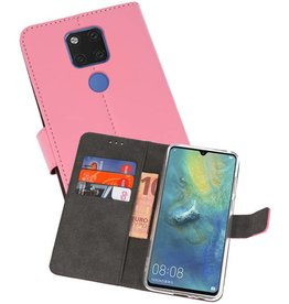 Wallet Cases Hoesje Huawei Mate 20 X Roze