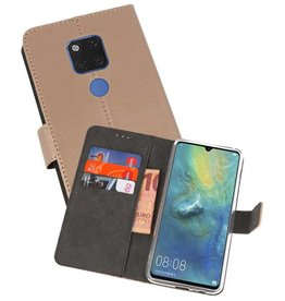 Wallet Cases Hoesje Huawei Mate 20 X Goud