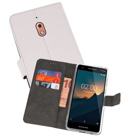 Wallet Cases Hoesje Nokia 2.1 Wit