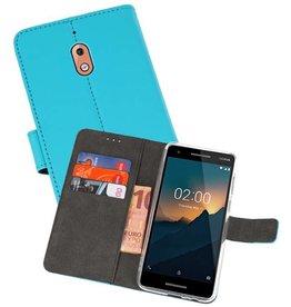 Wallet Cases Hoesje Nokia 2.1 Blauw
