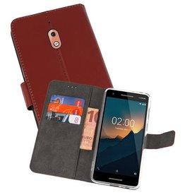 Wallet Cases Hoesje Nokia 2.1 Bruin
