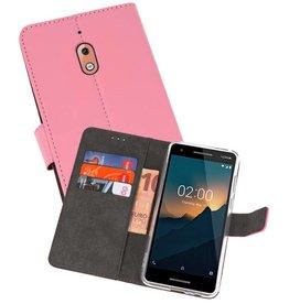 Wallet Cases Hoesje Nokia 2.1 Roze