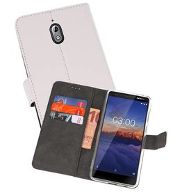 Wallet Cases Hoesje Nokia 3.1 Wit