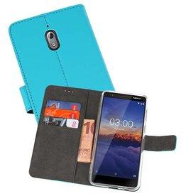 Wallet Cases Hoesje Nokia 3.1 Blauw