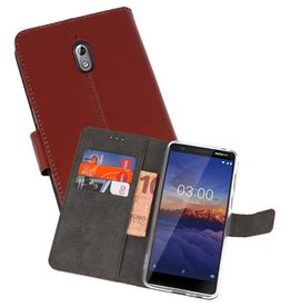 Wallet Cases Hoesje Nokia 3.1 Bruin