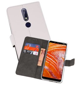 Wallet Cases Hoesje Nokia 3.1 Plus Wit