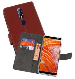 Wallet Cases Hoesje Nokia 3.1 Plus Bruin