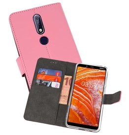 Wallet Cases Hoesje Nokia 3.1 Plus Roze