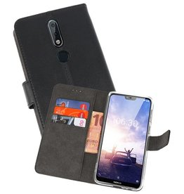 Wallet Cases Hoesje Nokia X6 6.1 Plus Zwart