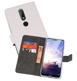 Wallet Cases Hoesje Nokia X6 6.1 Plus Wit