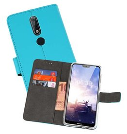 Wallet Cases Hoesje Nokia X6 6.1 Plus Blauw