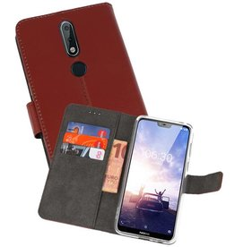 Wallet Cases Hoesje Nokia X6 6.1 Plus Bruin