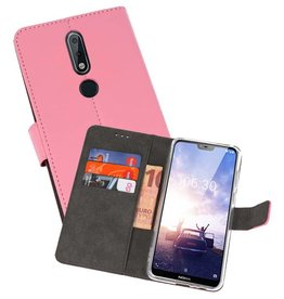 Wallet Cases Hoesje Nokia X6 6.1 Plus Roze