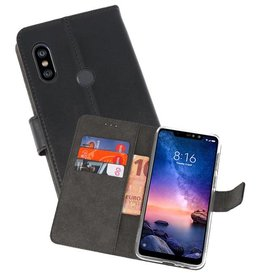 Wallet Cases Hoesje XiaoMi Redmi Note 6 Pro Zwart