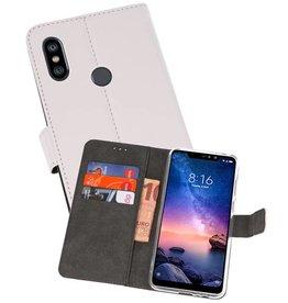 Wallet Cases Hoesje XiaoMi Redmi Note 6 Pro Wit