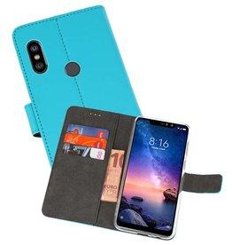 Wallet Cases Hoesje XiaoMi Redmi Note 6 Pro Blauw